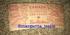 TIM HORTONS COFFEE PAPER SLEEVE CANADA CELEBRATING 150 YEARS FRENCH NEW RARE