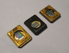 Lot of 3 Tiny Glass Window EPROMS Integrated Circuit CPU Chip gold vintage 17c3