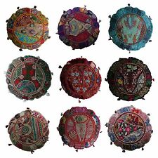 17pcs Indian Handmade Round Vintage Patchwork Cushion Cover with Filler 45cm(D)