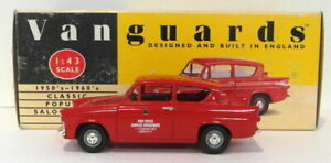 Vanguards 1/43 Metal Model VA1012 Ford Anglia Post Office Supplies Red