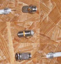 embrague doble f para Cable coaxial con 2 conector f NUEVO