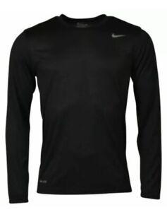 NWT Men's Nike Dry Legend Black Large Long Sleeve Crew Tee Shirt