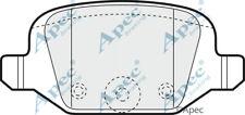 REAR BRAKE PADS FOR FIAT DOBLO GENUINE APEC PAD1130