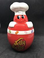 Collectible Red Jelly Belly Bean Ceramic Canister Jar