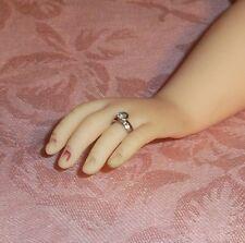 "SILVER Diamond Solitaire DOLL ring fits 14""-16"" Fashion  Elise,Revlon & Dollikin"