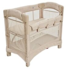 Arm's Reach Mini Ezee 2 IN 1 Baby Co-Sleeper Bedside Bassinet Toffee NEW