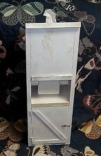 "Handmade White Wash Solid Wood Toilet Paper, Tissue Box Cabinet  27"" Tall"