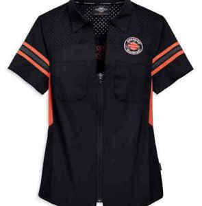 Harley-Davidson® Womens Performance Mesh Shoulder Shirt  96810-19vw £68