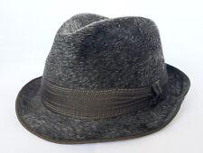 VINTAGE AUTHENTIC HARVARD GRAY MEN'S FEDORA HAT SIZE:US7 1/8 EU 57