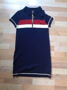 Forever 21 Strick-Kleid blau/rot/weiß M/L mit Reißverschluss im Vintage-Look