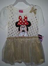 girls new 5t Minnie Mouse lightweight golden tutu dress Disney