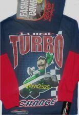 Super Mario LUIGI Long Sleeve T-Shirt 10-12 Large New & Beanie Hat MarioKart