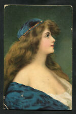 Posted 1907 Art Card: Young Lady