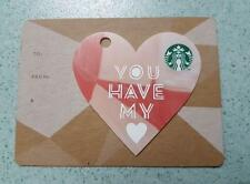 Starbucks Malaysia Card PIN INTACT Valentines Day 2016 You Have My Heart RED