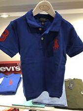 STUNNING POLO RALPH LAUREN new Season 2018 Blue Boys Logo Polo Shirt Bnwt Age 6