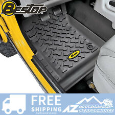 Bestop Front Floor Liner Set fits 76-95 Jeep CJ-7 & Wrangler YJ 51511-01 Black