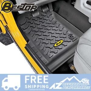 Bestop Front Floor Liner Set fits 76-95 Jeep CJ-7 & Wrangler YJ 51511-01 Black