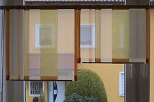 Scheibengardinen 2 x Breite 46 cm x Höhe 38/49 cm- neu - modern Gardine Paneel