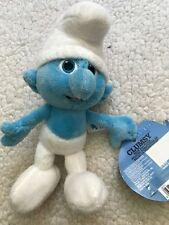 """The Smurfs Bean Bag Plush  Clumsy 8"""" Brand New"""