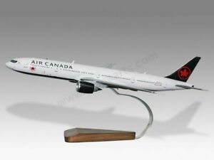 Boeing 777-300ER Air Canada Solid Mahogany Wood Handcrafted Display Model