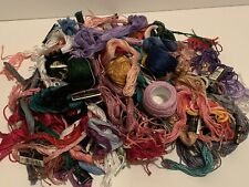 Lot of Embroidery Thread/Floss Cross Stitch Skeins USED Over 2lbs Various Brands