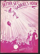 Better Get Gabriel's Horn 1936 Sheet Music