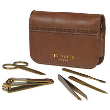 Ted Baker - 5 Piece Manicure Set in Brown Brogue Zip Around Case