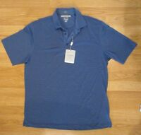 Greg Norman ML75 Luxury Microfiber Golf Polo Shirt Mens M XL 2XL XXL Blue Gray
