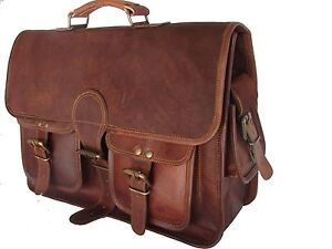 Handcrafted Real Leather Padded DSLR Camera Bag Macbook Briefcase Eco-Friendly