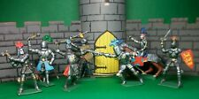 Cherilea 60mm Medieval Knights x 7, hand painted.