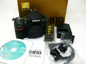 Nikon D810 Body Only - Black Boxed with Accessories