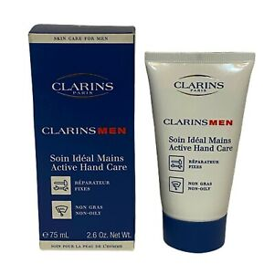 Clarins Paris Men Active Hand Cream Lotion 75 ml 2.5 oz Brand New Made in France