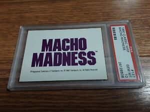 1990 Classic WWF Macho Madness Logo Card PSA 10 WWE Randy Savage Wrestling Man