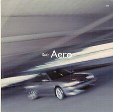 Saab Aero 2001-02 UK Market Foldout Sales Brochure 9-3 9-5