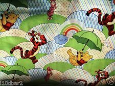"POOH FABRIC baby fabric COTTON FABRIC umbrella friends hills REMNANT 30""  New"