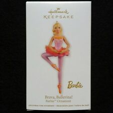 2012 Hallmark Brava Ballerina Barbie Ornament - MIB