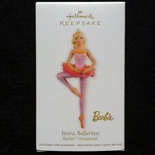 2012 Hallmark Brava Ballerina Barbie Ornament - MIB