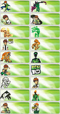 Clearance Sale - 60 Ben10 Pictures personalised name label (Large size)