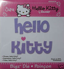 Hello Kitty Phrase  Sizzix   BigZ, Big Kick  Cutting Die   NIP
