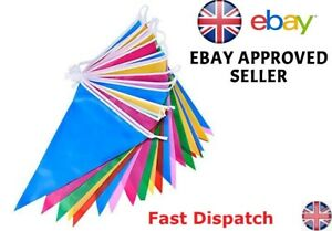100 Feet Multicolour Bunting 60Flags Banner Birthday Wedding Party Decoration