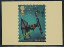Great Britain Tie Fighter Star Wars Royal Mail Stamp Card