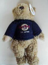 Hard Rock Cafe San Antonio Texas Brown Bear with Dark Blue Knit Sweater Bear