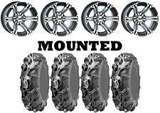Kit 4 ITP Mega Mayhem Tires 27x9-12/27x11-12 on ITP SS212 Machined Wheels CAN