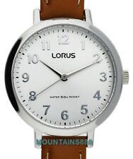 LORUS Watch, WR50, Leather Strap, Ladies, RG237MX-7
