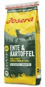 15kg Josera Ente+Kartoffel Hundefutter Trockenfutter Getreidefrei m. Ente