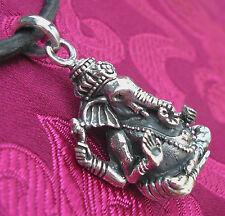 Artesanía local de 925er plata Buda-Ganesha amuleto nepal grande!... la más hermosa