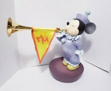 Disney Mickey Mouse Club 50th Anniversary Fanfare Mouse Big Fig w/ Horn and Base
