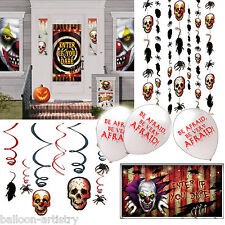Halloween CREEPY CARNIVAL Banners Balloons Party ENTRANCE Decorating Kit Pack