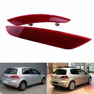 For VW Golf 6 MK6 2009-2013 RedLens Cover RearBumper Reflector Light Assembly