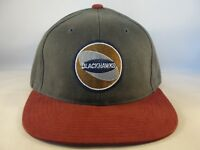 Chicago Blackhawks NHL Vintage SAMPLE Strapback Cap Hat Gray Burgundy